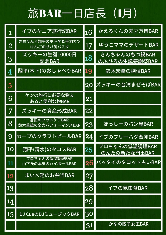 名古屋栄の1月のイベント一覧!面白い変わった1日店長がたくさん!