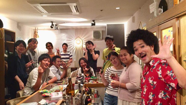 【まりなの鍋で温まろうBAR・うおちゃんの弾き語りBAR・のんた幻の日本酒BAR】